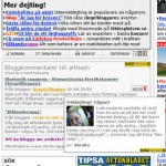 Aftonbladet.se's articles link to blog posts