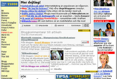 Blog comments on Aftonbladet.se