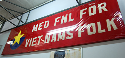 Swedish pro-FNL banner at the War Museum