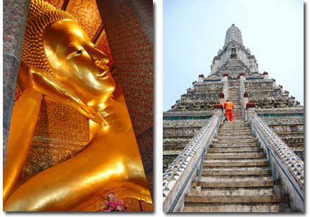 Wat Po and Wat Arun