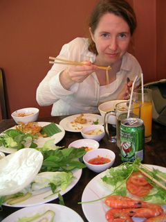 Me having vietnamese food